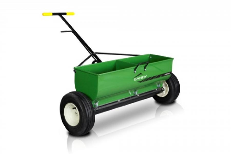 36 Variable Rate Drop Spreader With Push Handle And 13 Pneumatic Wheels
