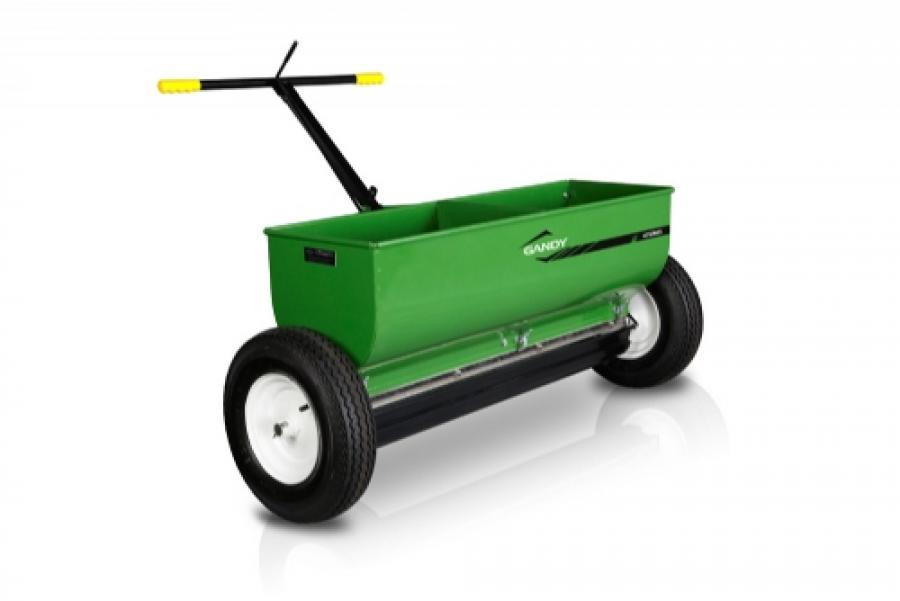 42 Variable Rate Drop Spreader With Push Handle And 16 Pneumatic Wheels Gandy