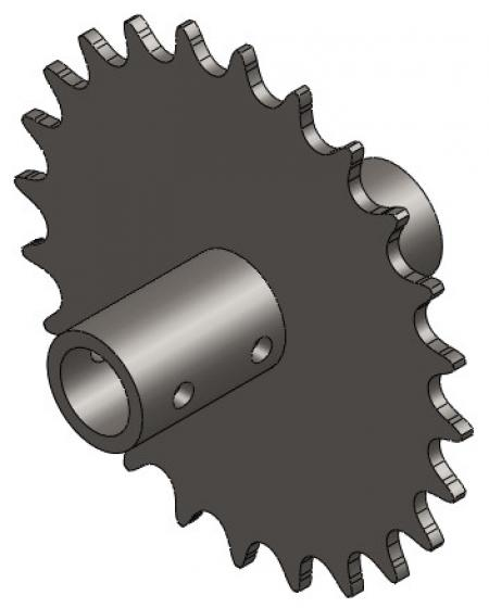 """24-Tooth Sprocket with 5/8"""" Round Bore"""