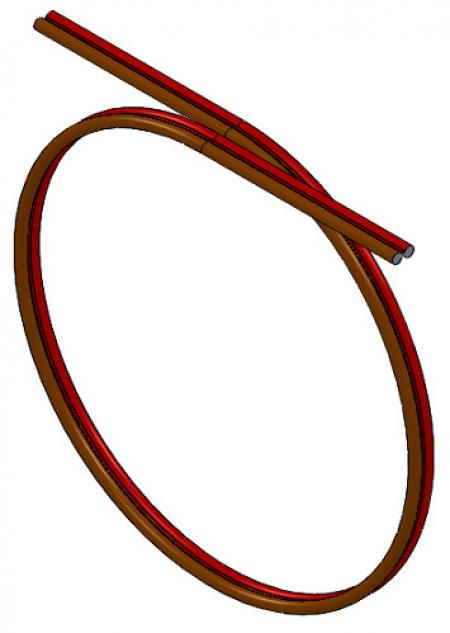 23-ft. Electrical Cord (16 Gauge/Brown & Red)