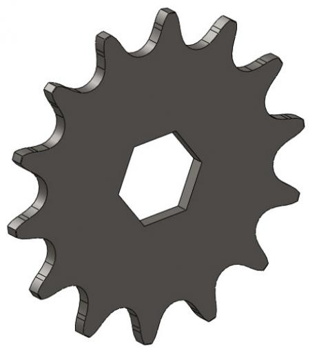 """14-Tooth Sprocket with 5/8"""" Hex Bore"""
