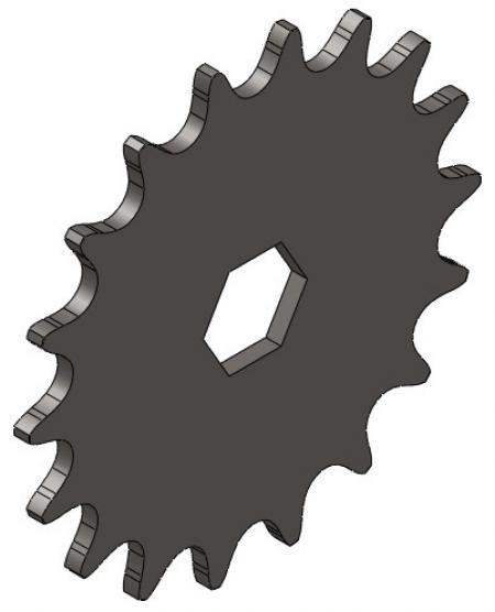 """18-Tooth Sprocket with 5/8"""" Hex Bore"""