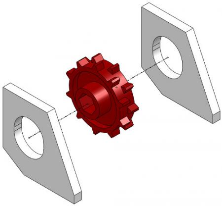 Half-Rate Red Fertilizer Wheel and Spacer Package