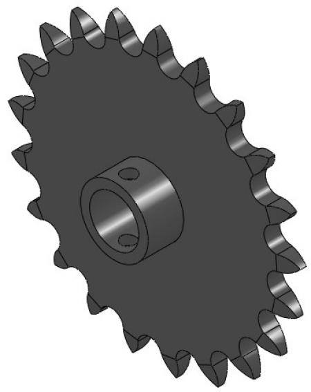 """21-Tooth Sprocket (5/8"""" Round with 12/16"""" Hub)"""