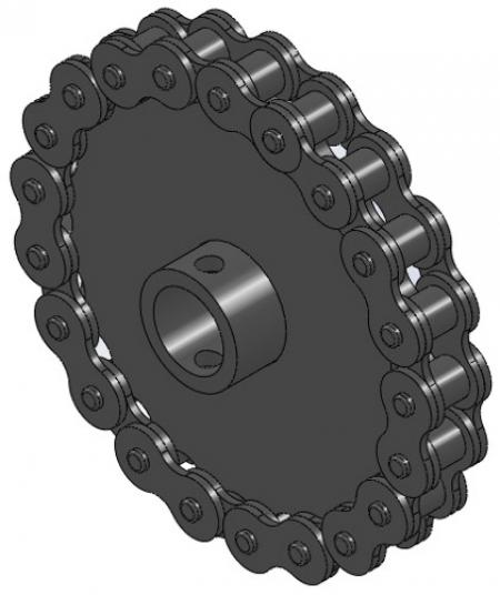 """21-Tooth Chain Sprocket (5/8"""" Bore)"""