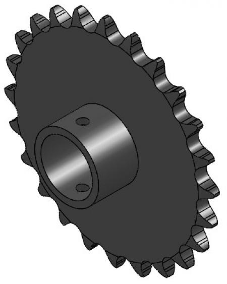 """24-Tooth Sprocket with 1"""" Round Bore and 1"""" Hub"""