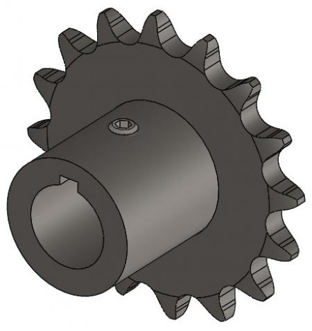 "16-Tooth Sprocket with 3/4"" Round Bore and 1-1/2"" Hub"