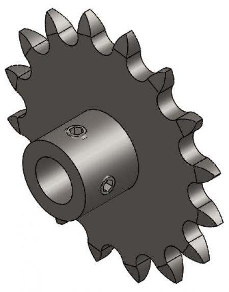 "16-Tooth Sprocket with 1/2"" Round Bore and 1-3/8"" Hub"
