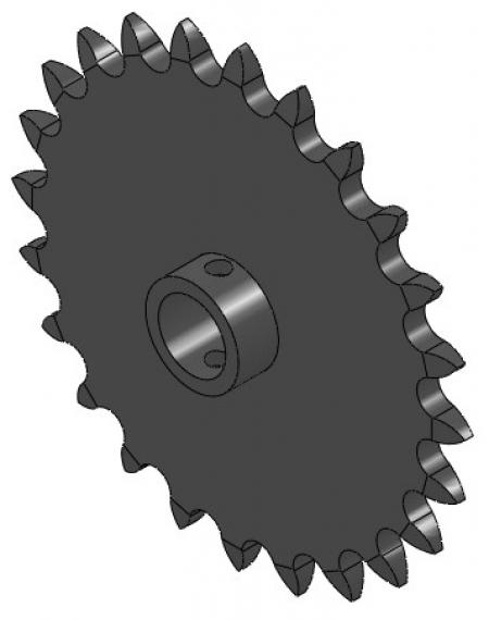 "24-Tooth Sprocket with 5/8"" Round Bore and 1-3/8"" Hub"