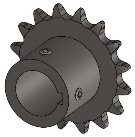 "16-Tooth Sprocket with 1"" Round Bore and 1-1/2"" Hub"