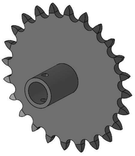 "24-Tooth Sprocket with 5/8"" Round Bore and 1-1/2"" Hub"