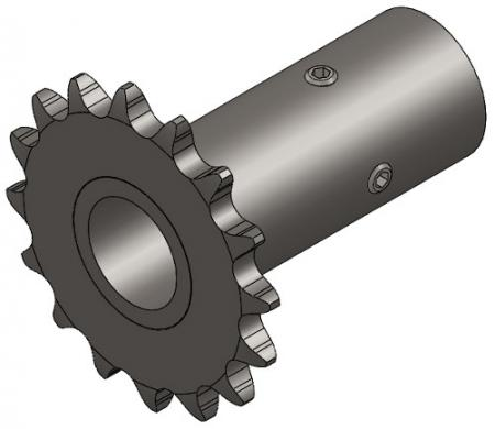 "16-Tooth Sprocket with 3/4"" Round Bore and 3-1/8"" Hub"