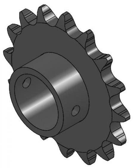 "16-Tooth Sprocket with 1"" Round Bore and 1-1/16"" Hub"