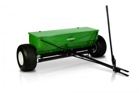 "4-ft. Drop Spreader with Tow Hitch and 18"" Pneumatic Wheels"