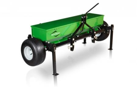 "5-ft. Drop Spreader with 3-Pt. Hitch and 18"" Pneumatic Wheels"