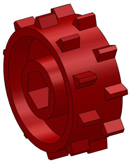 """1"""" Red Metering Wheel (For Systems Using 2 Wheels per Outlet)"""