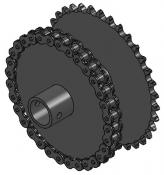 "32 & 35-Tooth Sprocket with 1"" Round Bore and 3-5/8"" Hub"