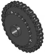 "24 & 32-Tooth Sprocket with 1"" Round Bore and 1-1/2"" Hub"