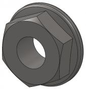 "3/16""-24 Stainless Steel Flange Nut"