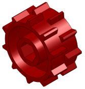 """Red, 1-1/4"""" Metering Wheel"""
